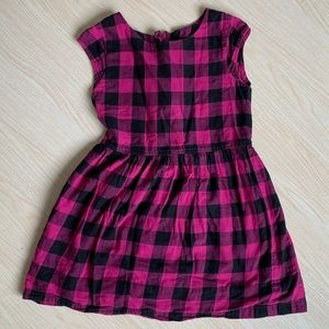 GAP Cap Sleeve Checkered Dress